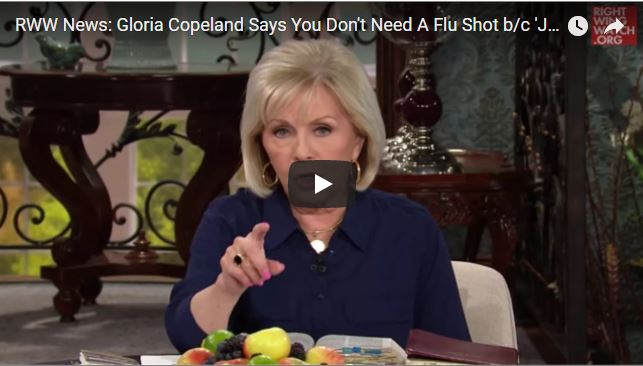 Media completely clueless about what Gloria Copeland means when she says 'Jesus Himself gave us the flu shot'